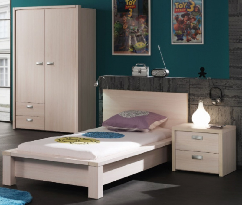 LOUIS ARMOIRE 2P + LIT ADULTE + TABLE DE NUIT