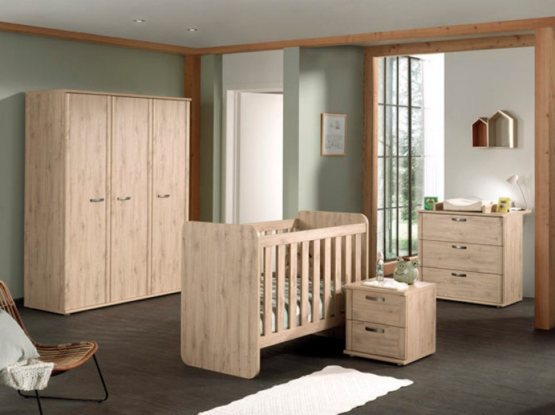 ARTHUR ARMOIRE 3P + COMMODE + PLAN A LANGER + LIT EVO EN ADULTE