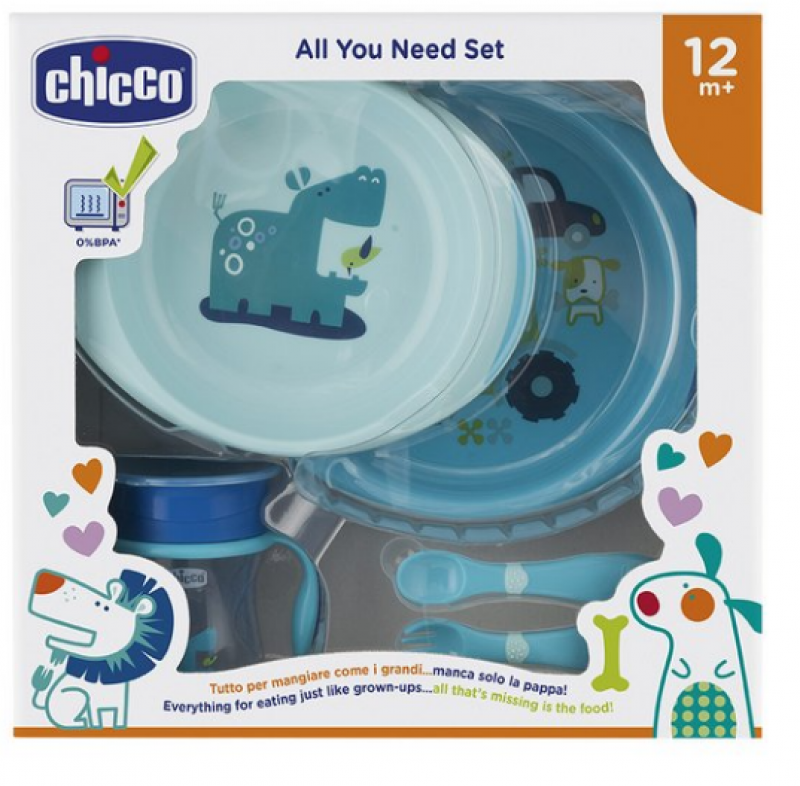 SET PAPPA CHICCO BLUE
