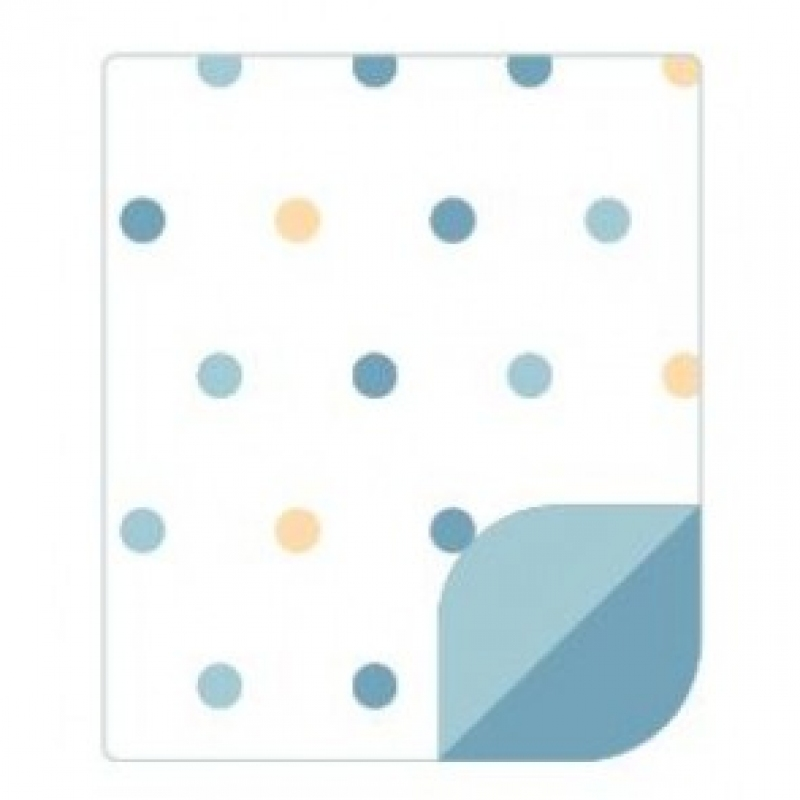 COUVERTURE DELTA POP PASTEL BLUE