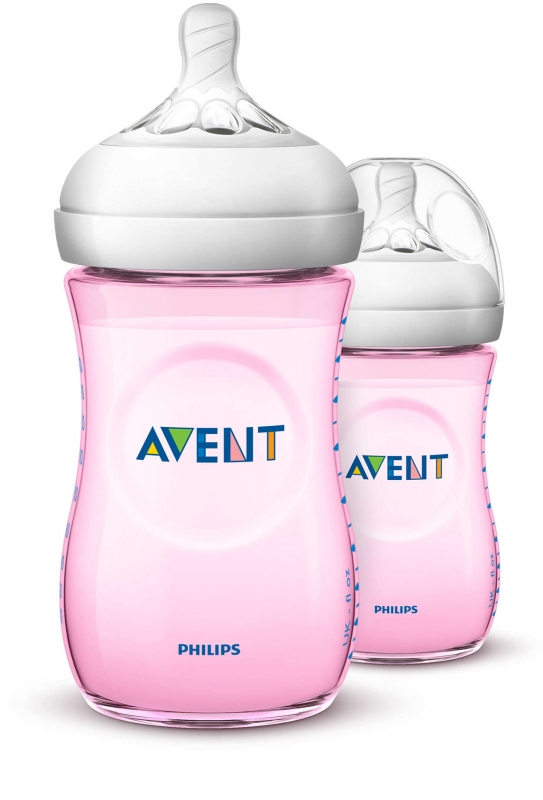 AVENT SET BIBERON ROSE 260ML