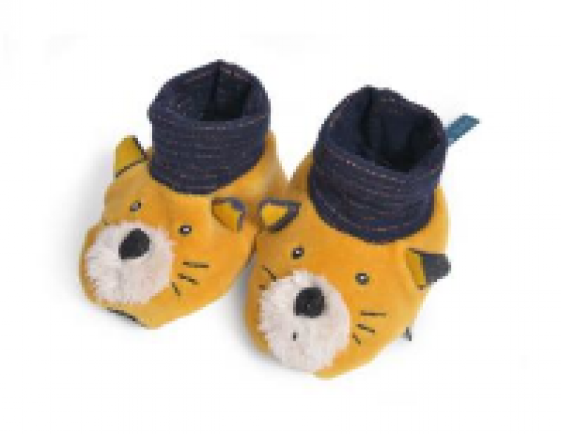 CHAUSSONS CHAT MOUTARDE LES MOUSTACHES
