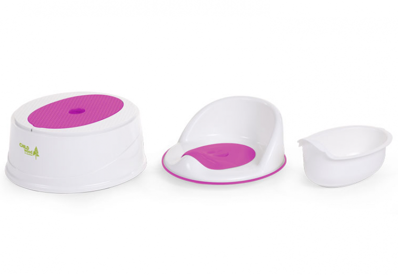 POTTY + STEP TOILETTE 3 in 1 FUCHSIA & BLANC
