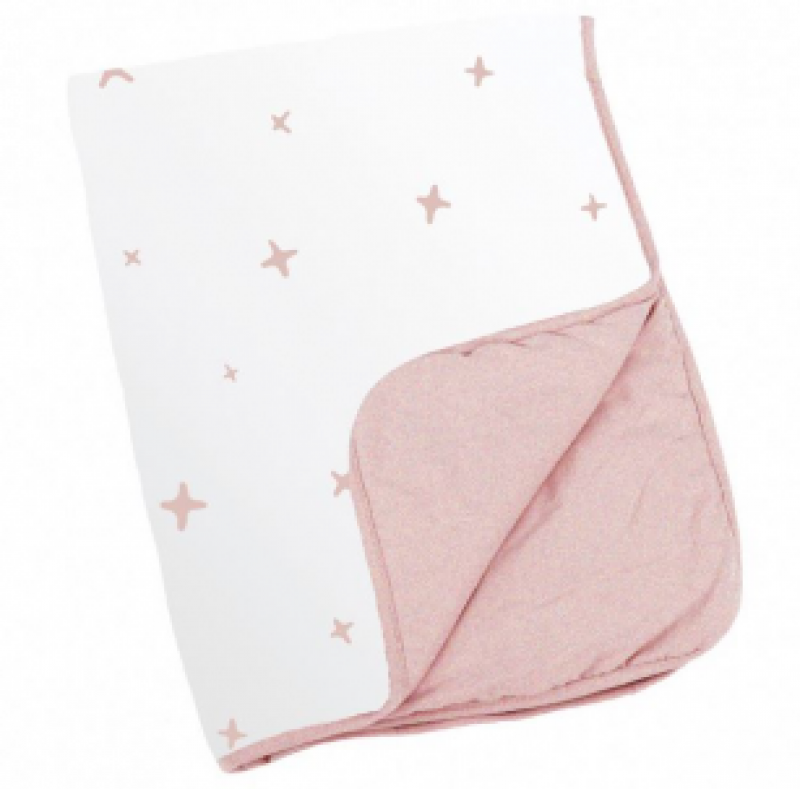 DOOMOO COUVERTURE DREAM 75X100 STARS PINK