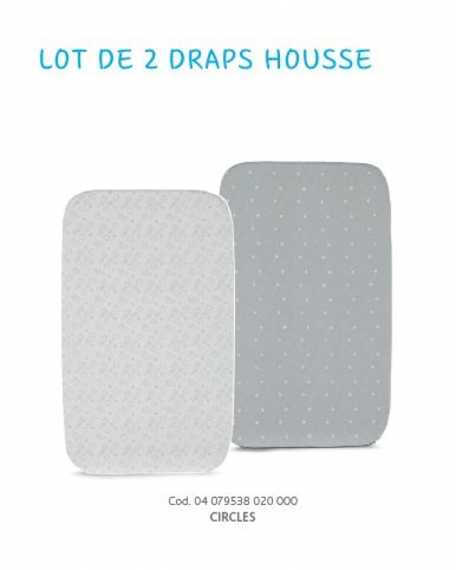 2 DRAPS HOUSSE CHICCO NEXT