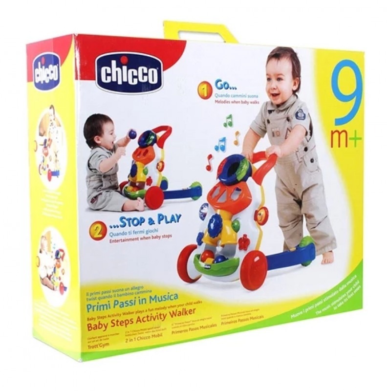 Chicco Baby Steps Activity Walker Stop and play ( couleur garçon ou couleur fille )